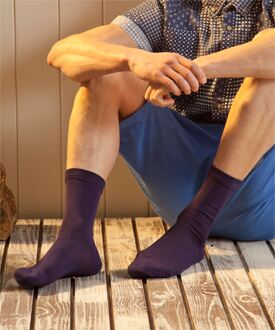 Mens 3 Pair SockShop Gentle Grip Plain Bamboo Socks In 4 Colours