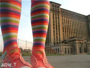 Colourful patterned socks could be in fashion