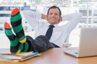 Stripy socks on trend for men
