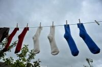 Students donate socks to help the homeless