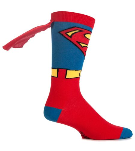 Superman character socks