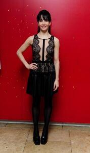 Tamera Rojo models tights in London