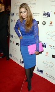Tasmin graces Sold movie premiere