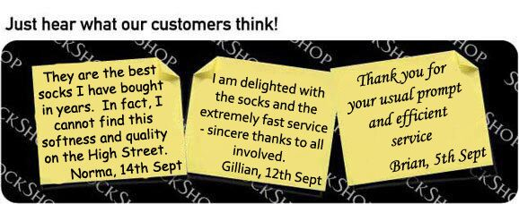 What our customers think at SockShop.co.uk- 21st September 2009