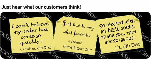 What our customers think at SockShop.co.uk- 11th Dec, 2008