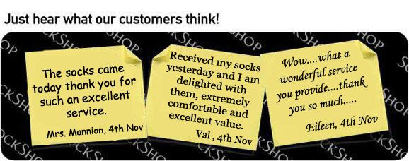 What our customers think at SockShop.co.uk- 11th November 2009