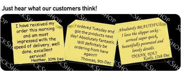 What our customers think at SockShop.co.uk- 14th December 2009