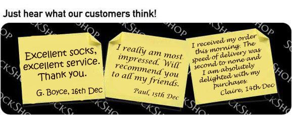 What our customers think at SockShop.co.uk- 18th December 2009