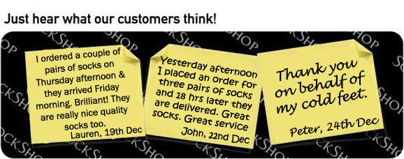 What our customers think at SockShop.co.uk- 24th December 2009
