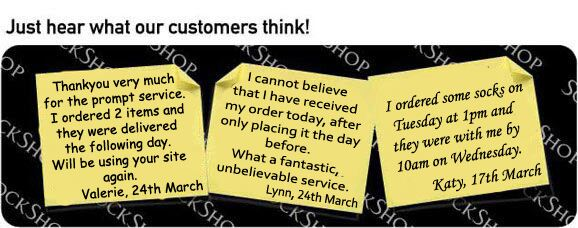 What our customers think at SockShop.co.uk - 29th March 2010