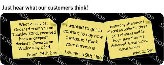 What our customers think at SockShop.co.uk- 4th January 2010