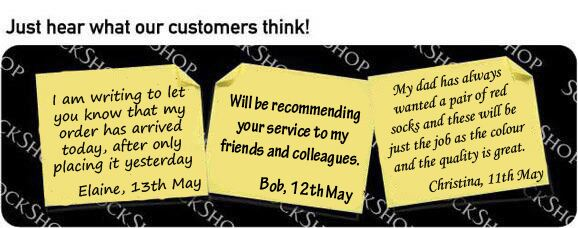 What our customers think at SockShop.co.uk - 17th May 2010