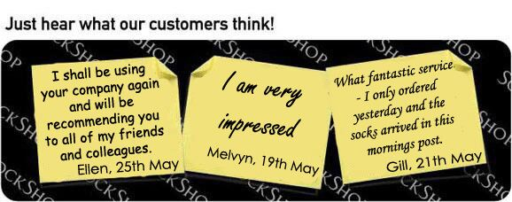 What our customers think at SockShop.co.uk- 1st June, 2009