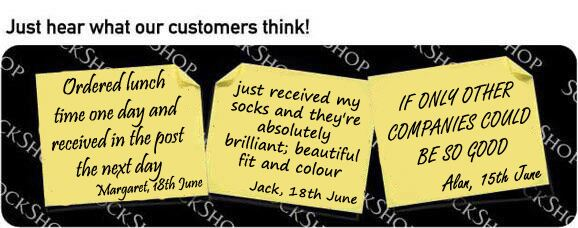 What our customers think at SockShop.co.uk - 21st June 2010