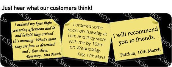 What our customers think at SockShop.co.uk - 22nd March 2010