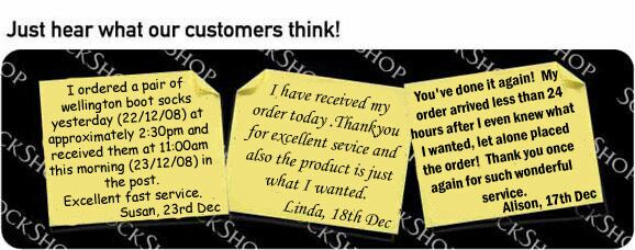 What our customers think at SockShop.co.uk- 24th Dec, 2008