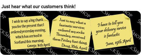 What our customers think at SockShop.co.uk - 26th April 2010