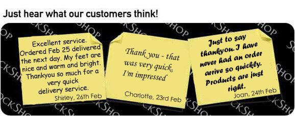 What our customers think at SockShop.co.uk- 27th Feb, 2009