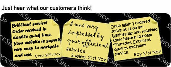 What our customers think at SockShop.co.uk- 28th Nov, 2008