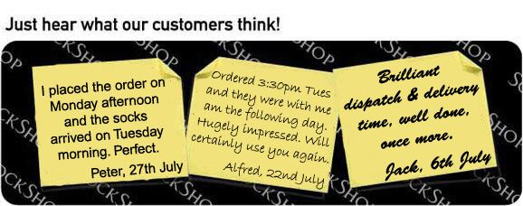 What our customers think at SockShop.co.uk - 2nd August 2010