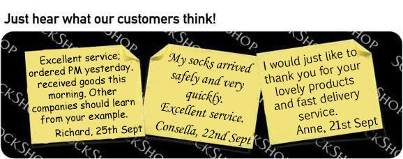 What our customers think at SockShop.co.uk- 30th September 2009