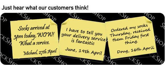 What our customers think at SockShop.co.uk - 4th May 2010