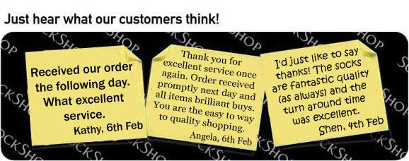 What our customers think at SockShop.co.uk- 8th February 2010