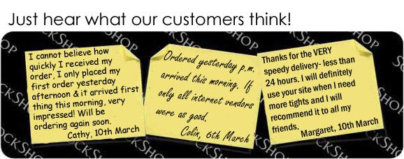 What our customers think at SockShop.co.uk- 13th March, 2009