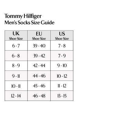 Tommy Hilfiger - Men's Socks Size Guide