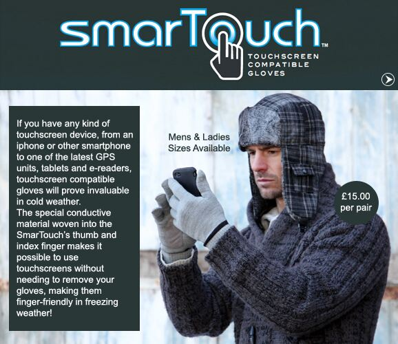 Touchscreen Compatible Gloves >