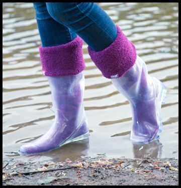 Transparent Wellies