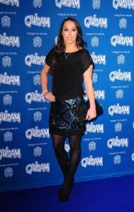 Tweddle in tights at Quidam event