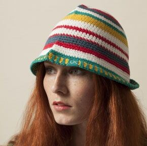 Urban Knit Bright Stripe Festival Sun Hat