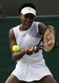 Venus brightens up 'Wimbledon whites'