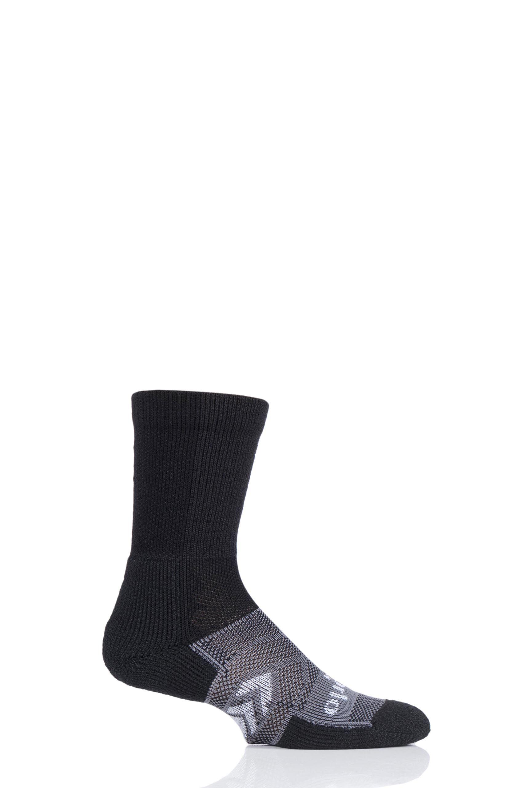 Image of 1 Pair Black 12 Hour Shift Work Socks Unisex 12.5-14 Mens - Thorlos