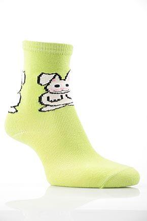 Girls 1 Pair SockShop Bunny Design Cotton Rich Socks