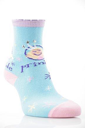 Girls 1 Pair SockShop Princess Design Cotton Rich Socks
