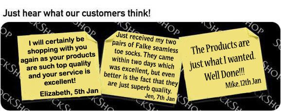 What our customers think at SockShop.co.uk - 17th January 2011