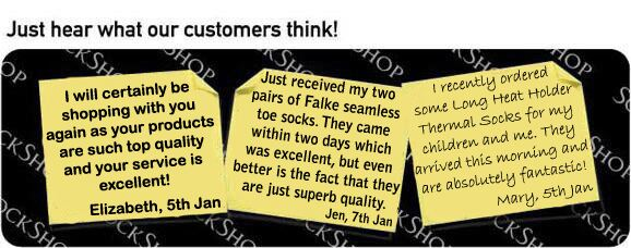 What our customers think at SockShop.co.uk - 10th January 2011