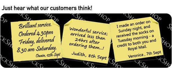 What our customers think at SockShop.co.uk - 13th September 2010