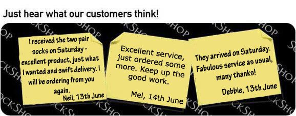 What our customers think at SockShop.co.uk - 20th June 2011