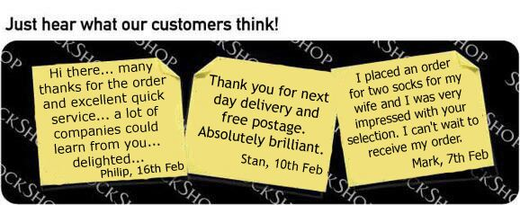 What our customers think at SockShop.co.uk - 21st February 2011