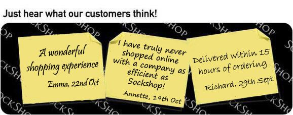 What our customers think at SockShop.co.uk - 25th October 2010