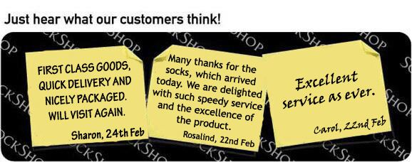 What our customers think at SockShop.co.uk - 28th February 2011
