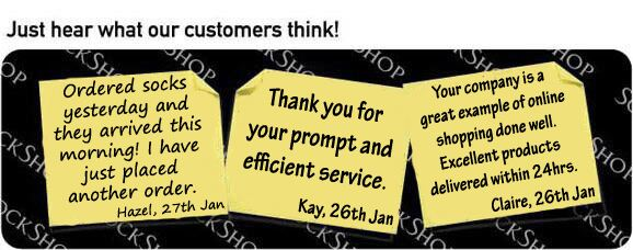 What our customers think at SockShop.co.uk - 31st January 2011