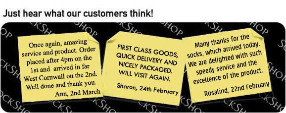 What our customers think at SockShop.co.uk - 7th March 2011