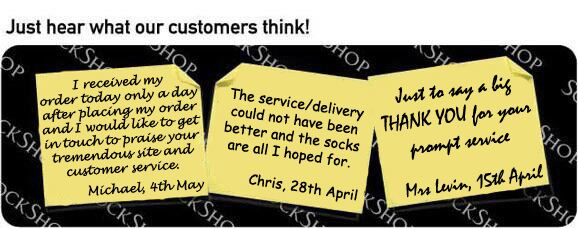 What our customers think at SockShop.co.uk - 16th May 2011