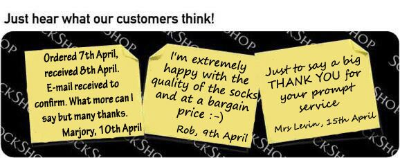 What our customers think at SockShop.co.uk - 26th April 2011