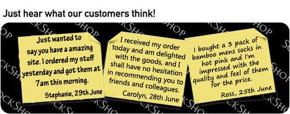 What our customers think at SockShop.co.uk - 11th July 2011