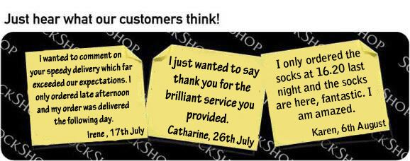 What our customers think at SockShop.co.uk - 8th August 2011